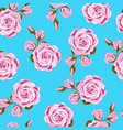 pink roses seamless pattern design vector image vector image