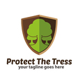 Protect The Trees Logo Icon vector image vector image