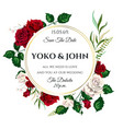 roses wedding invitation card for design 01 vector image vector image