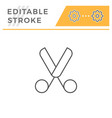 scissors line icon vector image