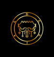 seal belial or sigil belial in gold- the vector image vector image