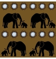 Seamless Gems Elephant Template vector image