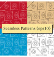 seamless geometric pattern textures set in black vector image vector image