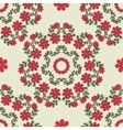 Seamless Pattern Mandala Red Flowers vector image vector image