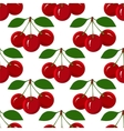 Seamless Pattern with Juicy Ripe Cherry Fruit vector image vector image