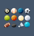set of modern sports equipment vector image
