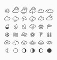 Set of thin line weather icons vector image