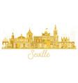 seville spain city skyline golden silhouette vector image vector image