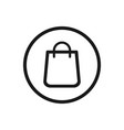 shopping bag icon on a white background vector image vector image