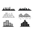 silhouette city in a flat style modern vector image vector image