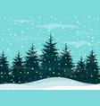 Snow in woods vector image