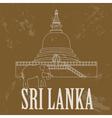 Sri Lanka landmarks Retro styled image vector image vector image