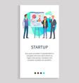 startup presentation new ideas orator web app vector image