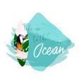 summer surf board vector image