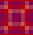 tartan seamless pattern red blue checkered plaid vector image