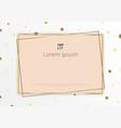 template pink geometric design gold frames vector image vector image