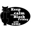 the concept on black friday with a motivating vector image vector image