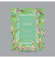 Tropical Flowers Colorful Frame - for Invitation vector image vector image