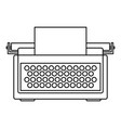 typewriter icon outline style vector image