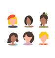 user avatar profile picture icon set vector image vector image
