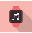 Watch icon Wearable technology design vector image vector image