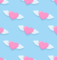 Winged heart seamless pattern Background for vector image vector image