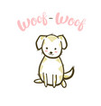 woof-woof cute little dog vector image vector image