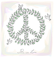 Sketch style peace dove symbol texture background vector image