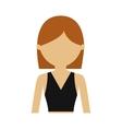 character woman person short hair vector image