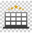 hotel stars gradient icon vector image