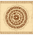 Decorative circle card background vector image
