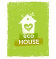 eco house organic creative on vector image