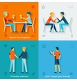 Friends and friendly company concepts vector image