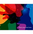 Abstract image flag of the LGBT community vector image