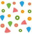background of bright fruit pattern vector image