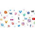 background social media icons vector image vector image