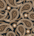Brown and navy paisley seamless pattern vector image