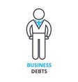 business debts concept outline icon linear sign vector image vector image
