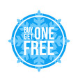 buy one get one free sign circular winter sale vector image vector image