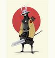 concept of samurai vector image vector image