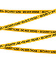 crime scene yellow tape police line do not cross vector image