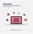 crowd funding concept for presentation promotion vector image vector image