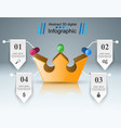 crown icon business abstract infographics vector image