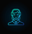 Customer service operator icon vector image