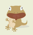 cute lizard cartoon vector image