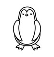 cute penguin standing cartoon character on white vector image