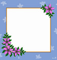 decorative frame with flowers vector image vector image