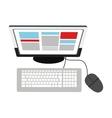 Desk computer topview icon