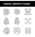 digital identity icons set with an editable stroke vector image