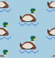 drake pixel art pattern pond 8bit texture vector image vector image